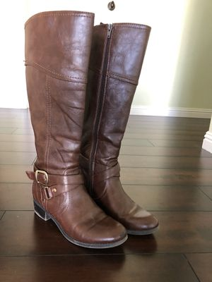 Girls tall brown boots size 6 for Sale in Murrieta, CA