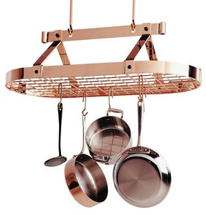 Must go! - Copper Hanging Pot Rack for Sale in Dallas, TX