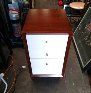 Modern 3 Drawer File Cabinet With Electric Outlet for Sale in Tampa, FL