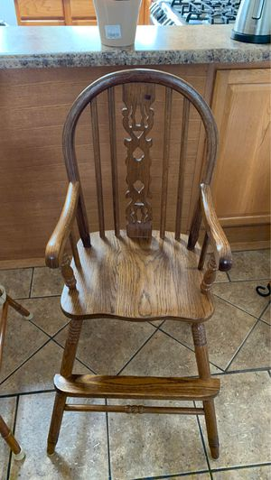 Kids wooden high chair for Sale in Aurora, IL