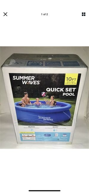 Summer Waves 10ft x 30in Inflatable Ring Quick Set Pool Filter Pump IN HAND! for Sale in Peoria, IL