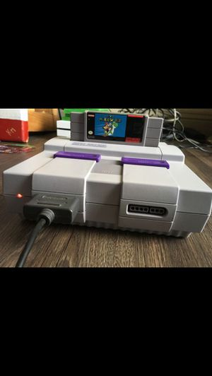 Super Nintendo SNES with Super mario world for Sale in Austin, TX