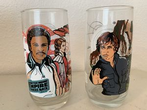 1980 Burger King Empire Strikes Back Collectors Series 2 Glasses Total for Sale in Beaverton, OR