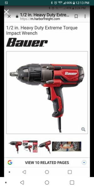 Bauer 1/2 inch drive impact wrench for Sale in Modesto, CA