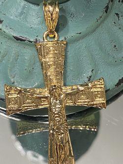 Greek Design Large Gold Plated Pendant for Sale in Nashville,  TN