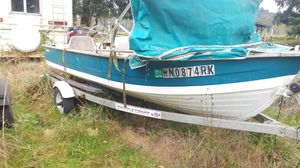 15FT Aluminum boat & Traler only for Sale in Battle Ground, WA