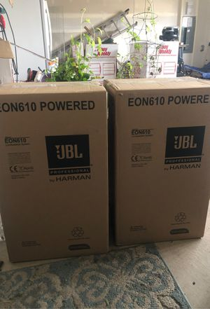 2 boxes JBL 610 powered speakers for Sale in Puyallup, WA