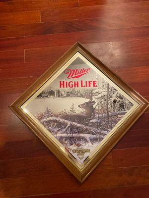 Miller High Life Glass Beer Sign (Deer in Woods) for Sale in Pembroke Pines, FL