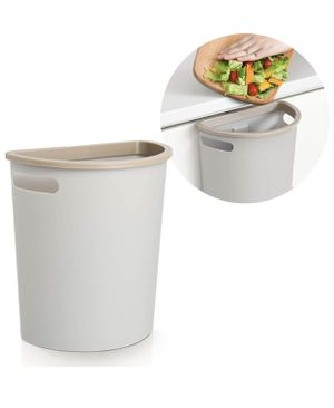 Subekyu Small Trash Can, Hanging Waste Bin Under Kitchen Sink, Plastic Wastebasket Over Cabinet Door with Top Ring to Fix Garbage Bag for Sale in Las Vegas, NV