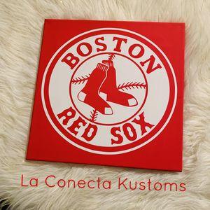 Boston Red Sox custom canvas frame for Sale in Phoenix, AZ