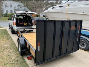 2006 5x8 utility Trailer with heavy duty ramp. TEXT {contact info removed} for Sale in Atco, NJ