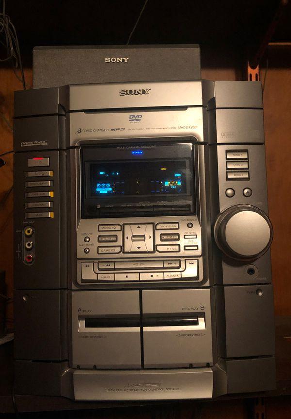 SONY Stereo Set - Radio, CD Player, Dual Cassette, Speakers