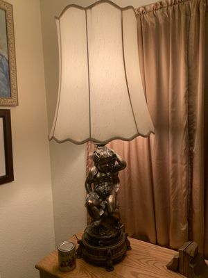 Large bronze cherub lamp for Sale in Fresno, CA