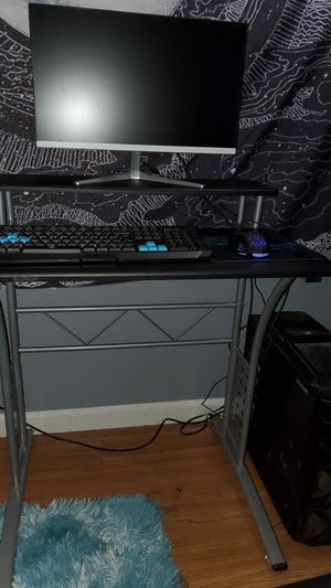 Computer desk, keyboard, mouse, mousepad, desktop computer, and gaming computer chair (monitor not included) for Sale in San Diego, CA