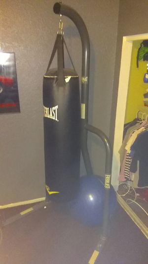 Everlast punching bag used 2 times $100 for Sale in Los Angeles, CA