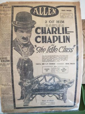 """Original Charlie Chaplin in """"The Idle Class"""" Showtime Poster for Sale in McKinney, TX"""