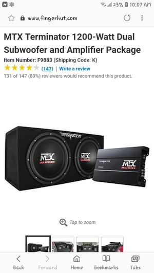 Car audio system MtX for Sale in Obetz, OH