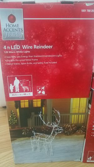 Christmas Outdoor indoopr 4ft LED Wire Reindeer see 2 pictures for Sale in Alsip, IL