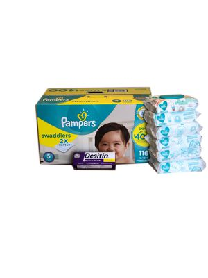 Pampers Swaddlers Size 5 with Desitin for Sale in Miami, FL