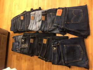 American Eagle jeans size 10 some new with tags others like new for Sale in Bronx, NY