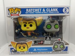 FUNKO POP! GAMES RATCHET & CLANK 2 PACK GAMESTOP EXCLUSIVE BRAND NEW for Sale in Alhambra, CA