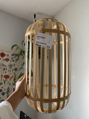 IKEA bamboo pendant lamp shade for Sale in Bingham Canyon, UT