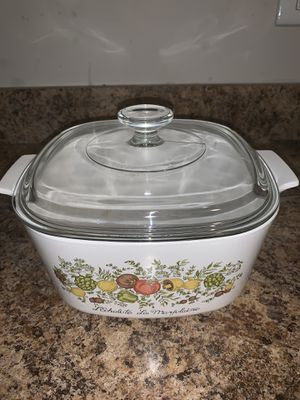 Vintage 70's CorningWare Spice of Life with Pyrex Lid for Sale in Round Lake Heights, IL