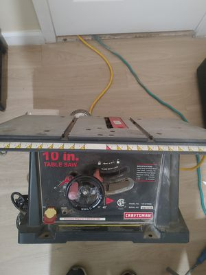 """Craftsman 10"""" Table Saw for Sale in San Leandro, CA"""