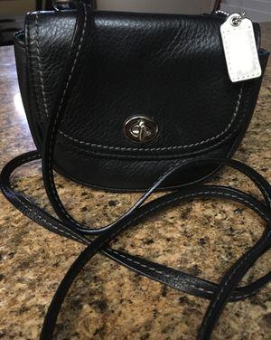 Coach little black leather crossbody purse for Sale in Murrieta, CA