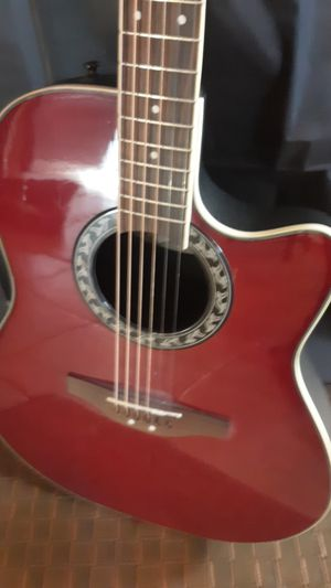 Acoustic Electric Guitar- Applause ae128 Cherry Red for Sale in Folsom, CA