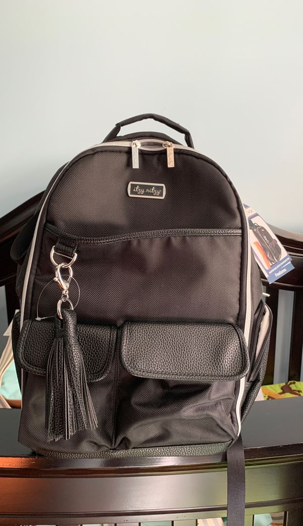 Itzy ritzy diaper bag, boss backpack