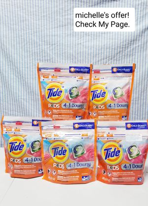 Tide pods 4in1 with Downy12ct set for Sale in Clinton, MD