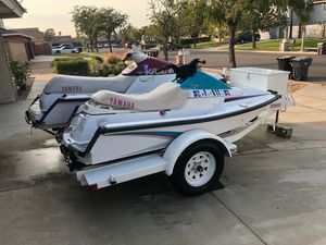 I have my 2 jetski 92and trailer for sale clean title all 3 for Sale in Rancho Santa Margarita, CA