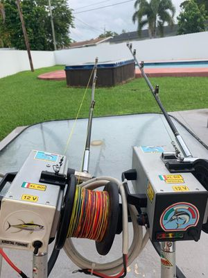 12V deep drop electric fishing reel Kristal made in ITALY for Sale in Palmetto Bay, FL