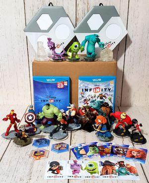 Disney Infinity Wii U Lot - 14 Characters, 3 discs, 2 portals, 10 Cards and more for Sale in Harrisonburg, VA
