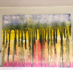Original abstract oil painting for Sale in Mount Lebanon, PA