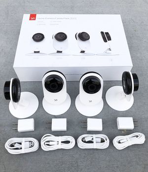 Brand new $90 YI 4pcs Home Camera, 720p Wi-Fi IP (2.4GHz) Security Surveillance Smart System, Night Vision for Sale in Downey, CA