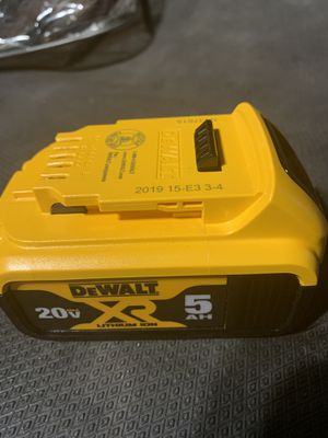 New Dewalt 20-Volt MAX XR Lithium-Ion Premium 5.0Ah Battery for Sale in Los Angeles, CA