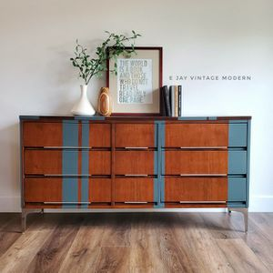 MCM Walnut & Gray Dresser *FREE DELIVERY* for Sale in Los Angeles, CA