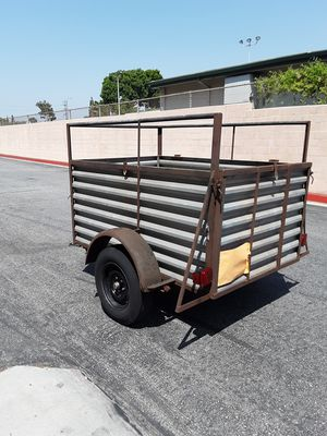 Small. Utility open box trailer 1 axle. all metal size 4 ft w x 6 ft long box only. NO OFFERS NO TRADES FIRM ON THE PRICE CASH ONLY ETC for Sale in Los Angeles, CA