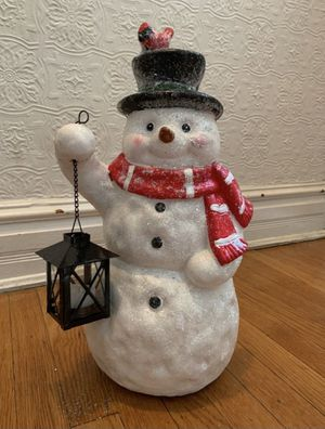 Sparkle Snowman with LED lantern for Sale in Baltimore, MD