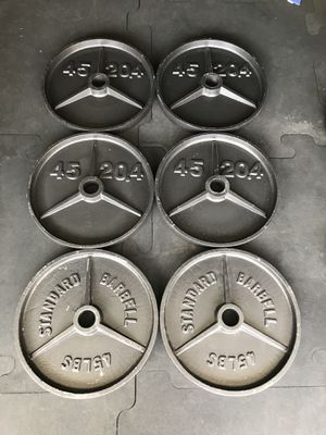 Olympic weights (6x45s) for $170 Firm!!! for Sale in Burbank, CA