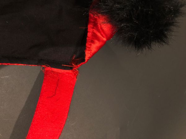 Large Red and black dog coat