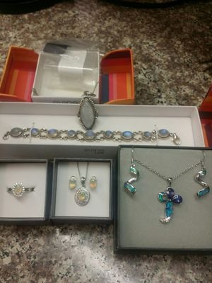 Choice of New Genuine Gemstone Gift Sets in .925 Sterling Silver! for Sale in PT CHARLOTTE, FL