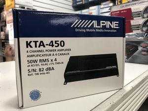 Alpine kta - 450 4 channel power amplifier on sale today please message me for more details guarantee the lowest prices in Los Angeles for Sale in Gardena, CA