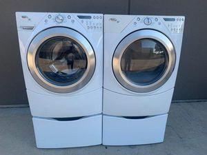 WHIRLPOOL DUET FRONT LOAD WASHER AND ELECTRIC DRYER SET for Sale in Grand Prairie, TX
