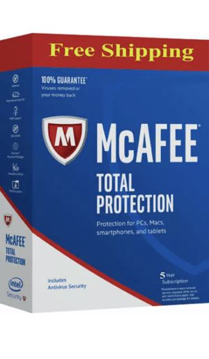 McAfee Total Protection 3 Device 2019 5 YEAR MAC,Win,Android KAY 📩 for Sale in Beverly Hills, CA