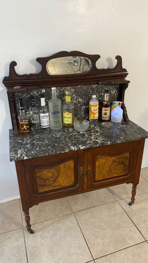 From Scotland antique wash table in nice shape one section needs gluing to piece on the right for Sale in Phoenix, AZ