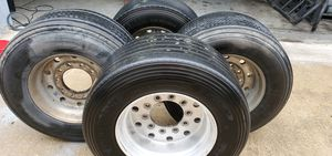 Trailer tire with rims for Sale in Schaumburg, IL