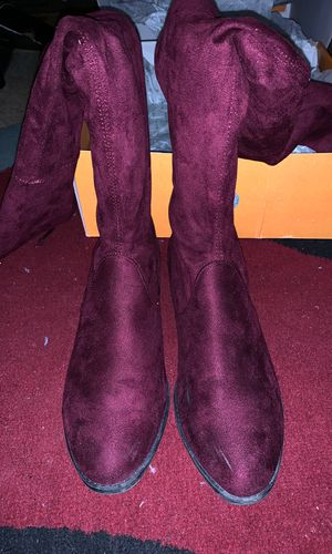 Thigh High Boots (Wine Color - Size 7 Women's) for Sale in Washington, DC